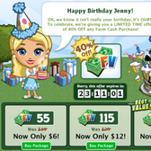 FarmVille 2nd Birthday: Farm Cash now 40 percent off for 24 ho