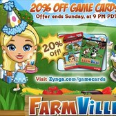 FarmVille: 20% off Game Card sale for a limited time