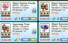 farmville second birthday  trees