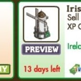 FarmVille Irish Decorations: Irish Windmill, Gerberas Flowerbed, Irish Fountain and more