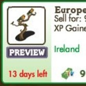 FarmVille Irish Decorations: European Robins, Irish Library, Bench S