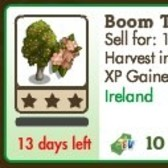 FarmVille Irish Trees: Boom Tree and Gorse Tree