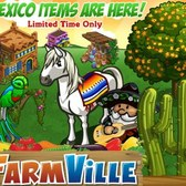 FarmVille Mexico Items: Mariachi Costume, Jacaranda Tree, Azteca Horse and many more