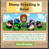 FarmVille Sheep Breeding Upgrade: Receive new patterns by leveling up