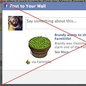 FarmVille: One click sharing s