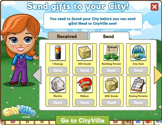 farmvillecityville3 CityVille Mailbox: Send yourself gifts between Zynga games