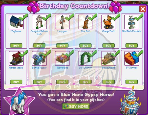 FarmVille 2nd Birthday Countdown