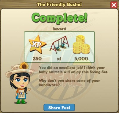 FarmVille Craftshop Goal 2 rewards