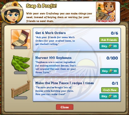 FarmVille Craftshop Goal 3