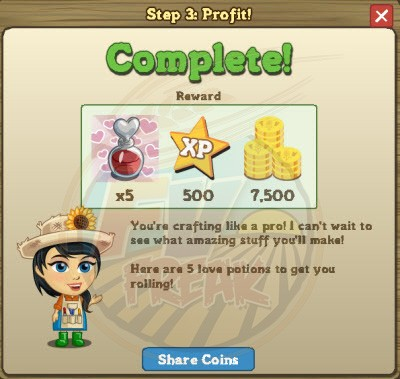 FarmVille Craftshop Goal 3 rewards