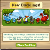 FarmVille Duck Pond gets quacktastic with Red and Blue Ducklings