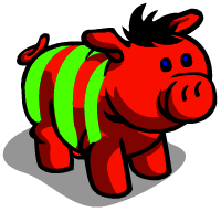 Candy Cane Pig