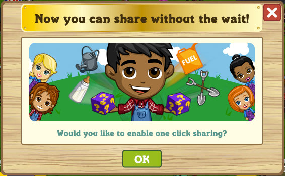 FarmVille One Click Sharing