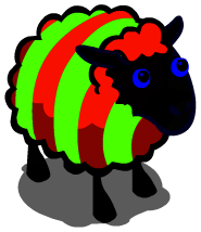 Candy Cane Sheep