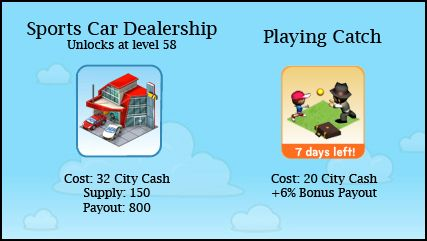 CityVille Sports Car Dealership