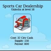 CityVille Sports Car Dealership: For Father's Day ... a new car?