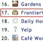 FrontierVille falls out of top 15 on Facebook app leaderboard
