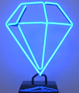 PopCap Bejeweled neon diamond lamp