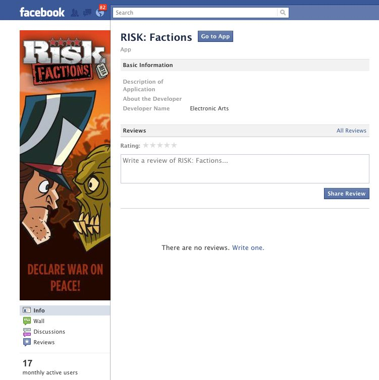 risk factions on facebook
