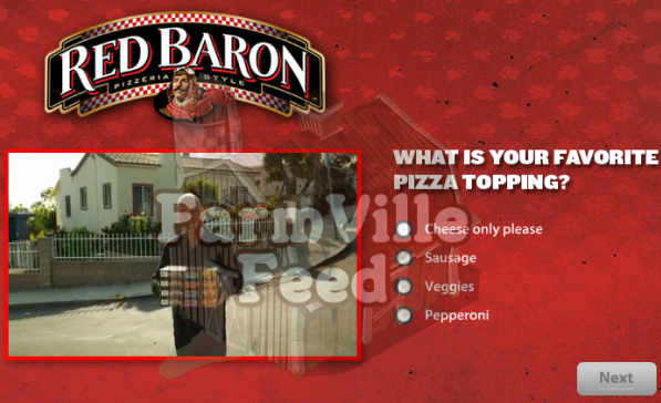 Red Baron pizza Farm Cash