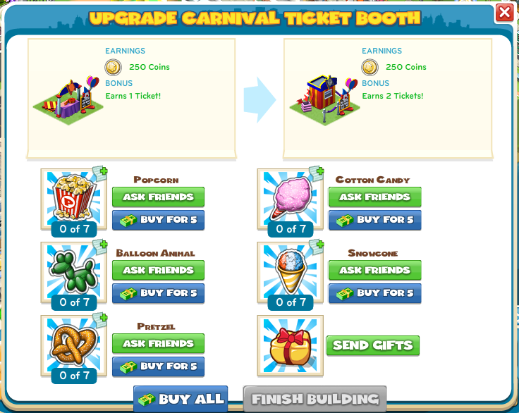 Upgrade Carnival Ticket Booth