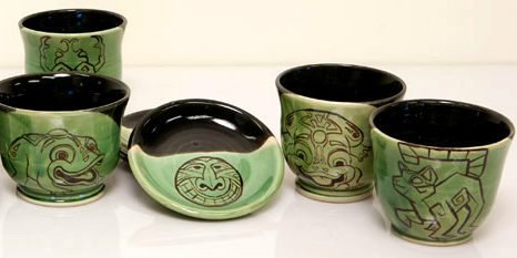Zuma Blitz ceramic tea set