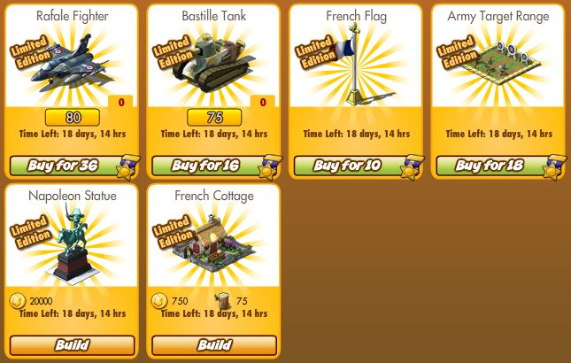 Empires Allies French Items