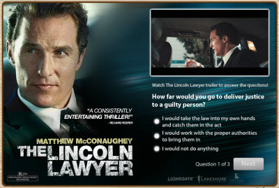 The Lincoln Lawyer FarmVille promo