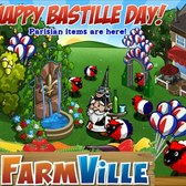 FarmVille Parisian items celebrate a happy Bastille Day