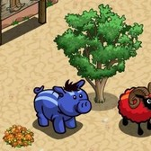 FarmVille Vineyard Animals: Race Stripe Ram and Boar offer patterns for the impatient