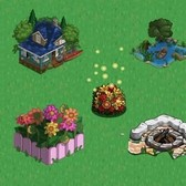 FarmVille Summer Items: Sit around a Firepit next to Row Boat Lake