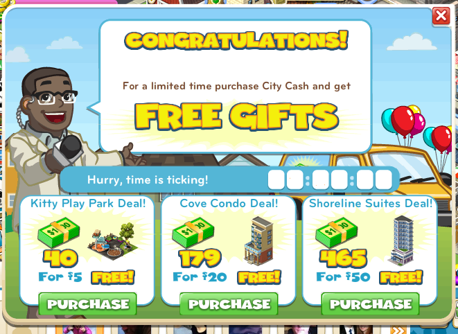 City Cash offers