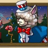 FrontierVille Patriotic Mystery Animal Crate: Uncle Sam would