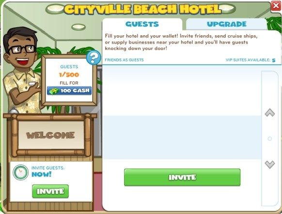 Hotel Resort Invite Guests