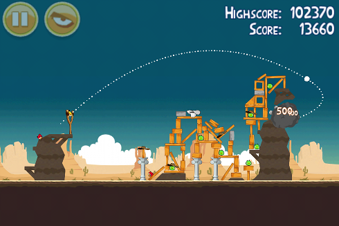 Angry Birds Facebook level gameplay