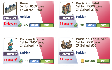 FarmVille Parisian Theme 3