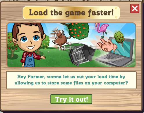 FarmVille faster loading