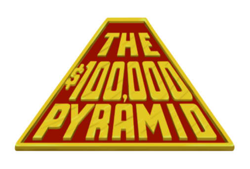 100000 pyramid game hosts crossword clue