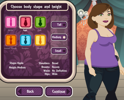 Beauty Town choose body shape