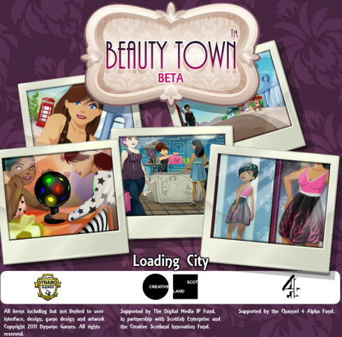 Beauty Town loading screen