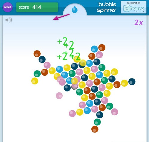 bubble spinner game of the day