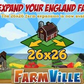 FarmVille English Countryside 26x26 and 28x28 land expansions now available for coins