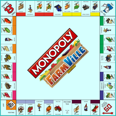 Monopoly: FarmVille Edition board by Jest84