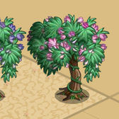 FarmVille Fairy Garden Trees: Pink Hanging and Purple Hanging Trees