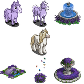 FarmVille Mystery Game (08/08/11): Purple items reward you with a Snow Stallion