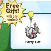 FarmVille: Free Party Cat with Farm Cash purchase for a limited time