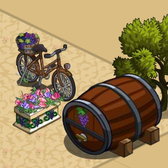 FarmVille Vineyard Decorations: Rusted Bike and Giant Barrel round out new options