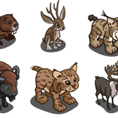 FarmVille Wildlife Animals include re-releases from past themes for Animal Mastery