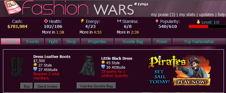 Zynga Fashion Wars