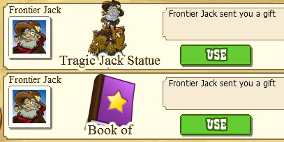 Book of Experience and Tragic Jack Statue